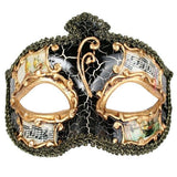 Venetian Style Men's Masquerade Mask Salvatore Black