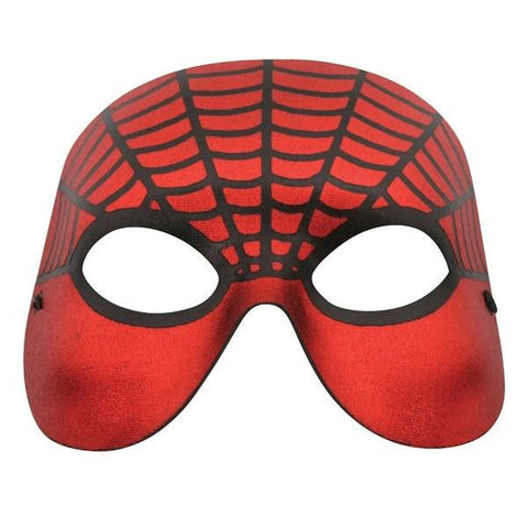 Spider Men's Mask Red and Black Masquerade