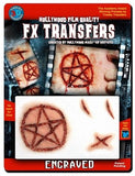 Engraved Horror Halloween Scars Make Up Realistic Fake Wounds Film Quality