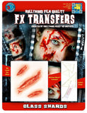 Glass Shards Fake Wound Face Horror Make Up Halloween Costume Makeup