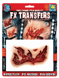 Special Effects - Ripped Flesh Halloween Film Quality Makeup 3D FX Transfers
