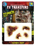 Zombie Rot Face Wounds Horror Make Up Halloween Film Quality Makeup