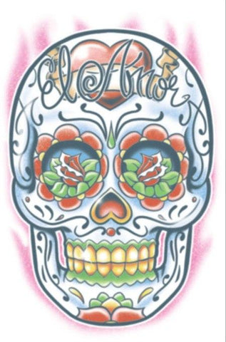 Tattoos - Day Of The Dead - El Amor - Temporary Tattoo