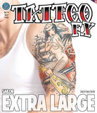 Tattoos - Extra Large - Sailor - Temporary Tattoo