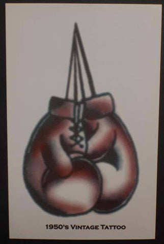 Temporary 1950's Vintage Boxing Tattoo