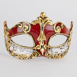 Venetian Masquerade Mask Red Authentic Italian Colombina Musica Sinfonia