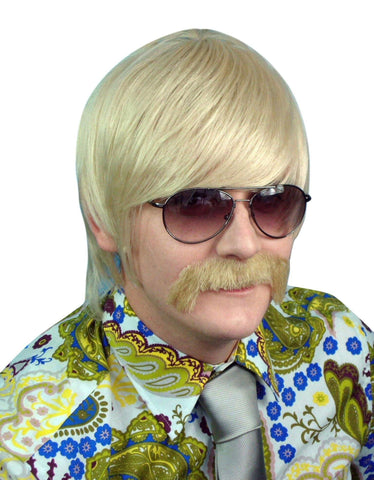 1970's Mod Guy Blonde Costume Wig