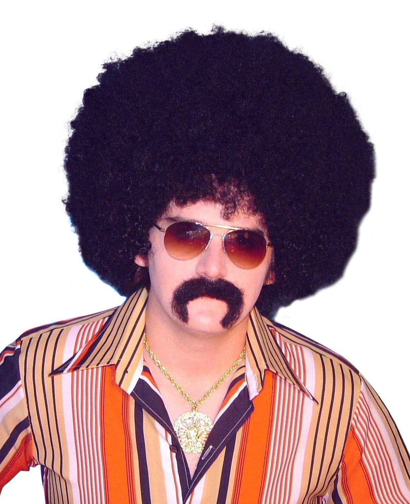 70s Disco Kit Chest Hair Wig with sideburns and moustache