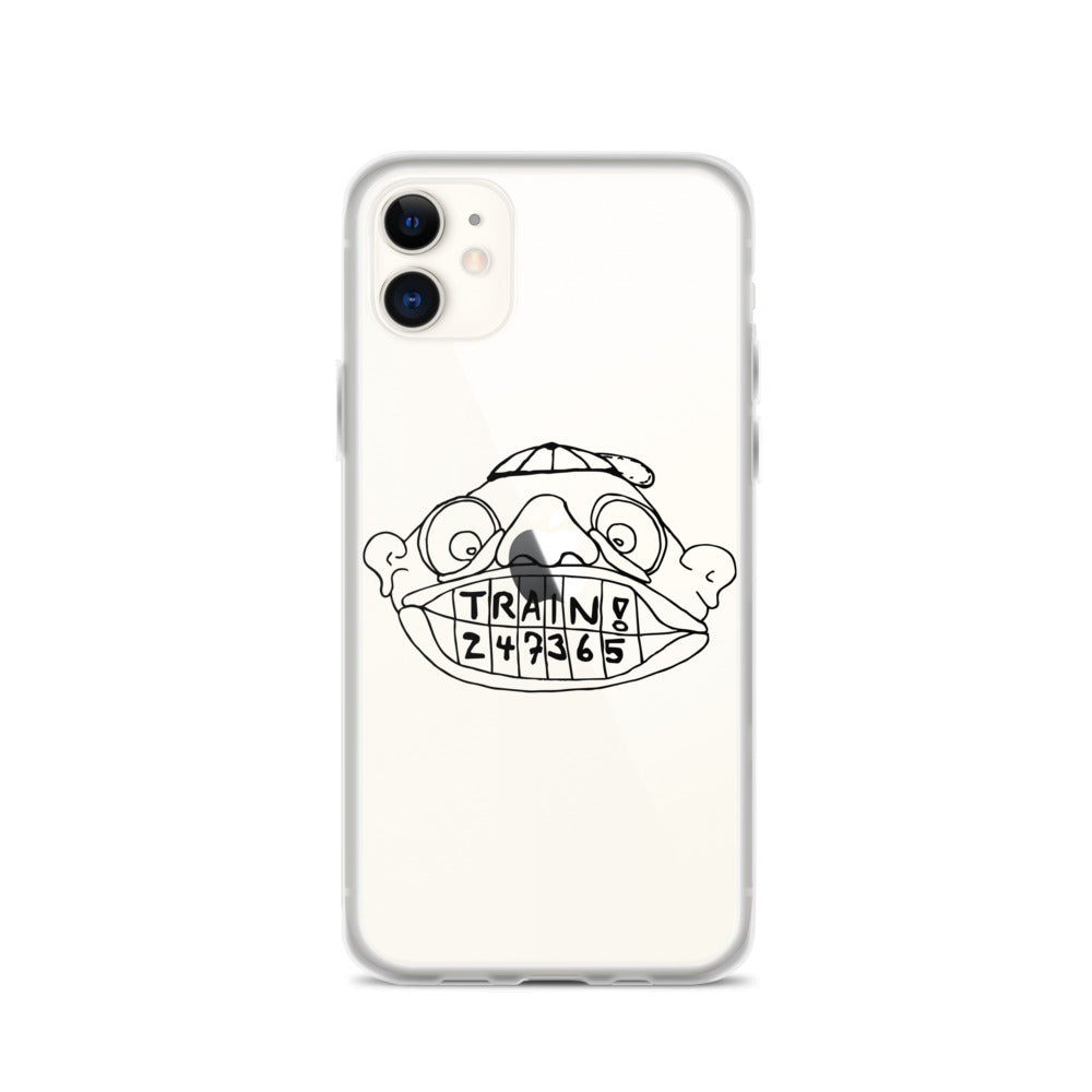 Train! 247365 iPhone Case with Black Print