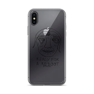 Ready for a Reboot iPhone Case with Black Print
