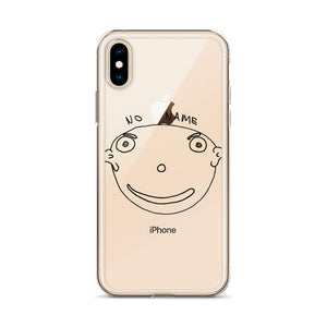No Name iPhone Case with Black Print