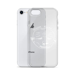 Senior Power iPhone Case with White Print