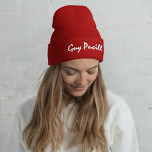 Load image into Gallery viewer, Guy Pucill Cuffed Beanie with White Print