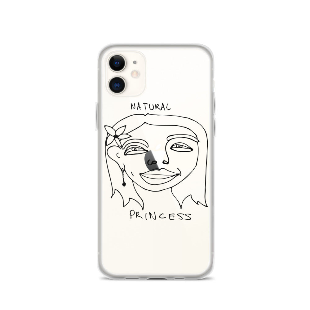 Natural Princess iPhone Case with Black Print