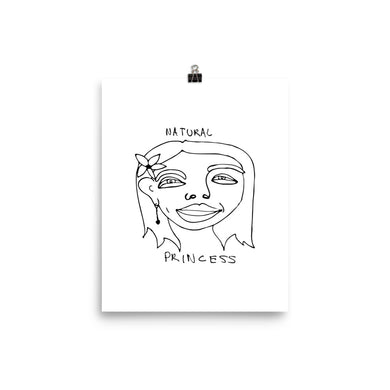 Natural Princess Poster with Black Print