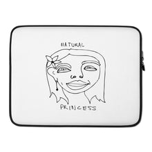 Load image into Gallery viewer, Natural Princess Laptop Sleeve with Black Print