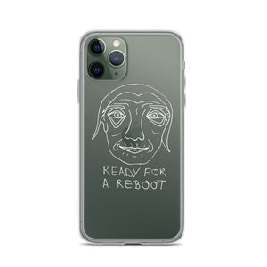 Ready for a Reboot iPhone Case with White Print