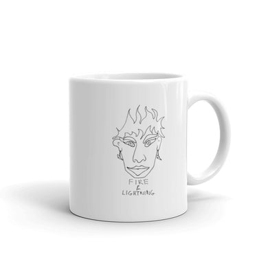 Fire & Lightning Mug with Black Print