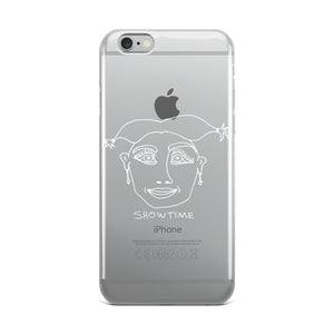 Showtime iPhone Case with White Print
