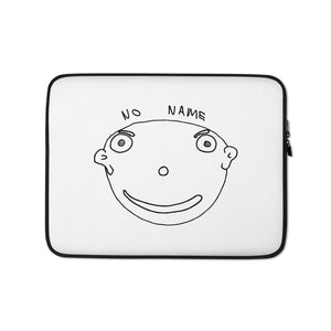 No Name Laptop Sleeve with Black Print