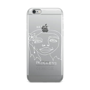 Natural Princess iPhone Case with White Print
