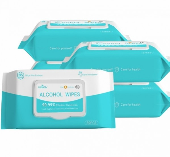 Alcohol Wet Wipes (50-Pack)