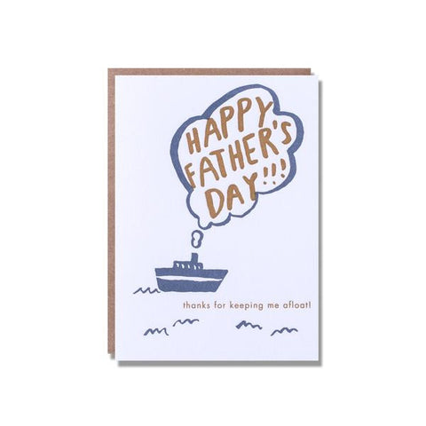 Afloat Father's Day Card