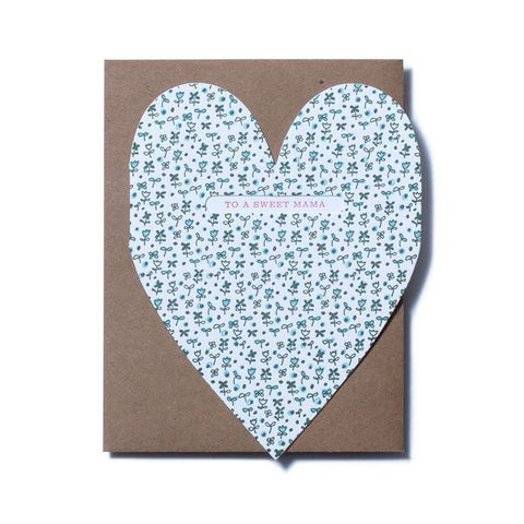 Sweet Mama Heart Card