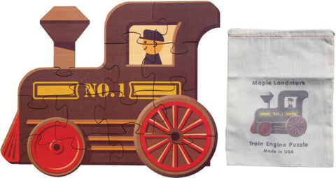 Wooden Train Engine Puzzle