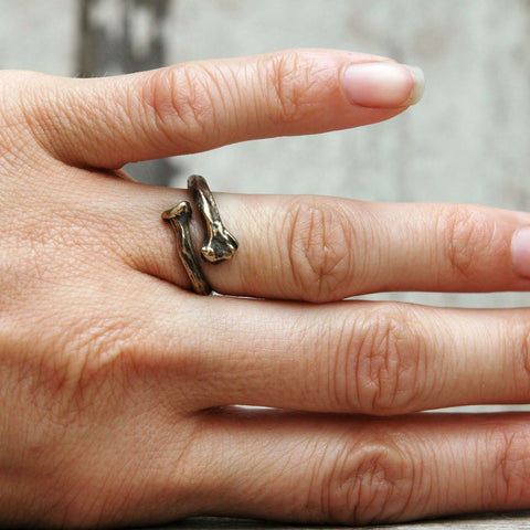 Bronze Bone Ring