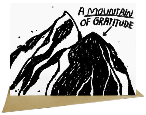 Mountain Of Graditude Card