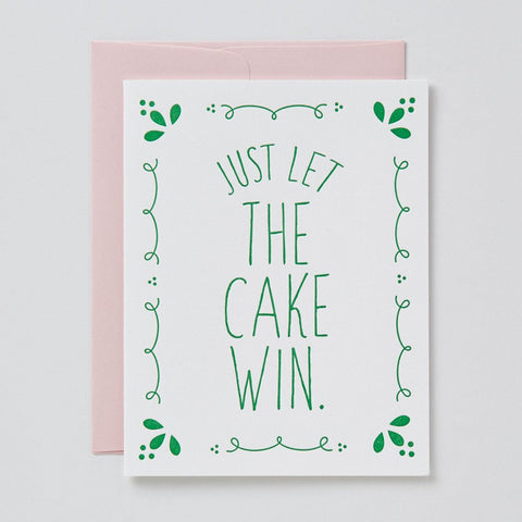 Let The Cake Win Card