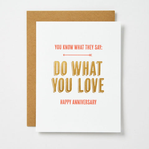 Do What You Love Card