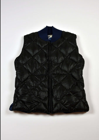 Limited Edition Vest by Crescent Down Works, Black+Blue, S