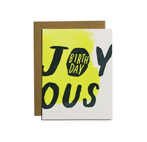 Joyous Birthday Card