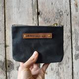Small Waxed Canvas Pouch - Coal