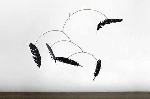 Laser Cut Feather Mobile