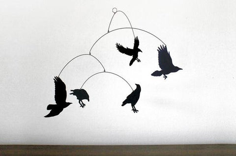 Laser Cut Birds Mobile