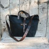 Waxed Canvas Tote - Coal