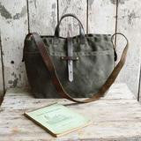 Waxed Canvas Tote - Moss