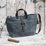 Waxed Canvas Tote - Slate