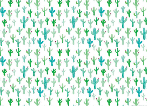 Watercolor Cactus Wrapping Paper
