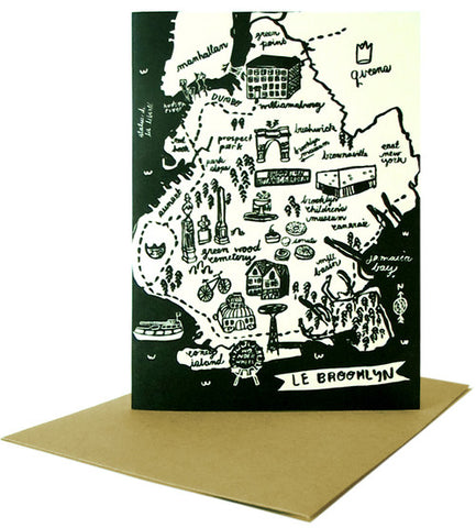 Brooklyn Map Card