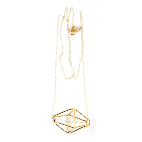Geometric Cage Necklace