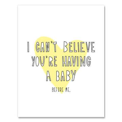 Baby Before Me Card