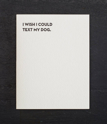 Text My Dog Card