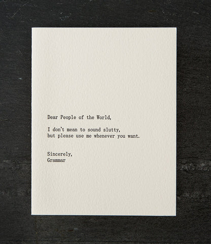 Dear People of the World Card