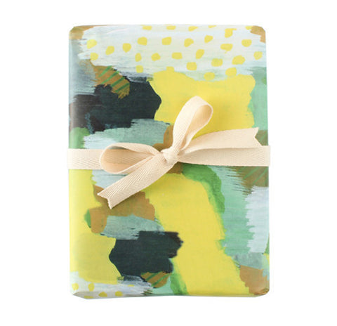 Painted Moss Wrapping Paper