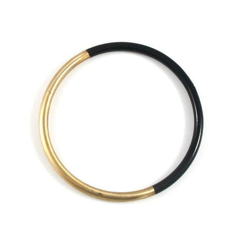 Black Dipped Bangle