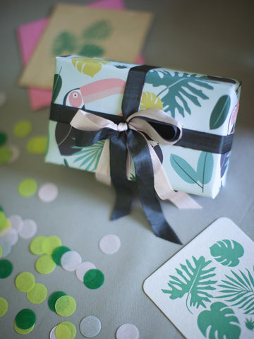 Toucan Aloe Tropical Wrapping Paper